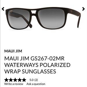 c21c0cbaf4  219 Maui Jim Waterways black sunglasses w  sleeve